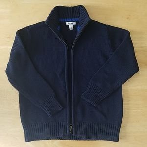 Old Navy - Blue Knit Zip-up Sweater Cardigan